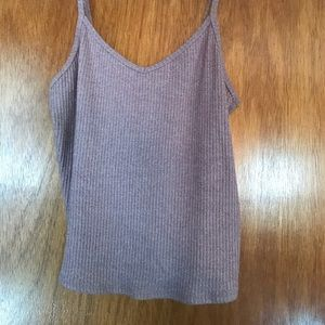 Ribbed rose colored tank